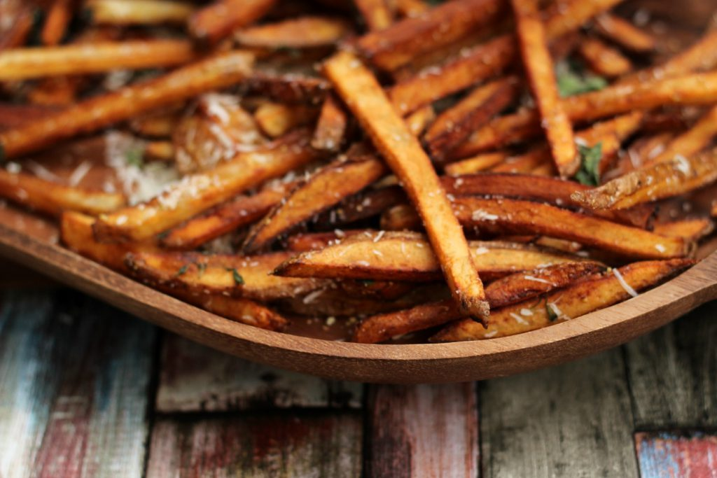 French fries with parmiggiano, oregano & salt.