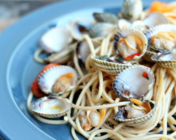Spaghetti med hjerteskjell (Spaghetti Vongole)