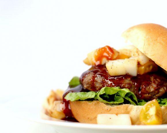 Surf'n'turf Jack Daniels burger