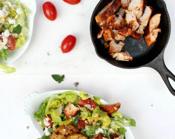 Gresk gyros-cæsar salat