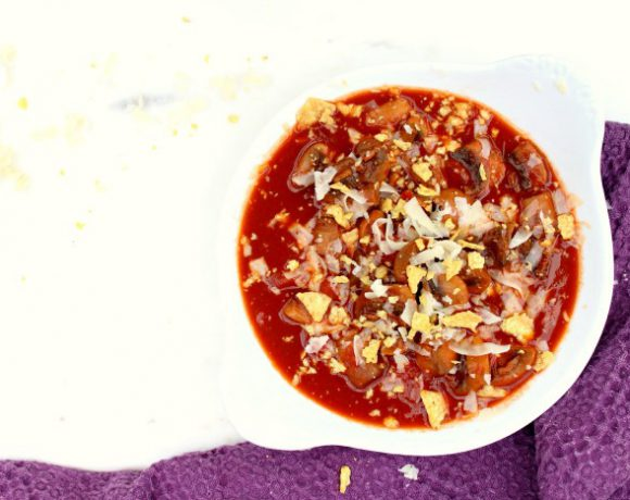 Chiligryte med sopp, chipotle og øl