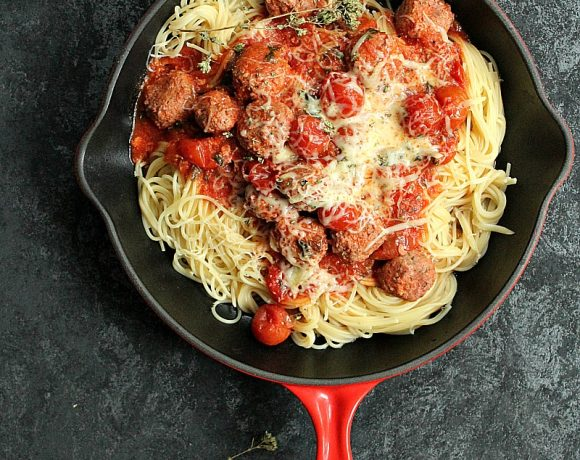 Spaghetti med italienske kjøttboller