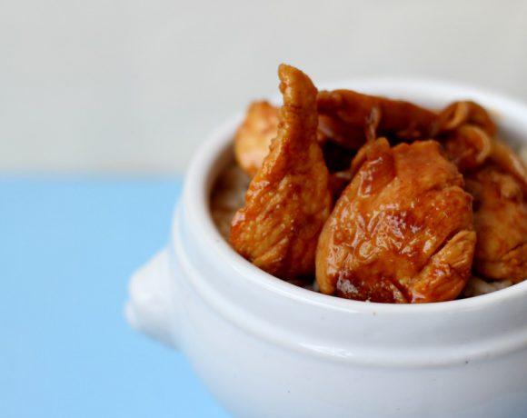 Spicy kylling i saus av øl, honning og chili